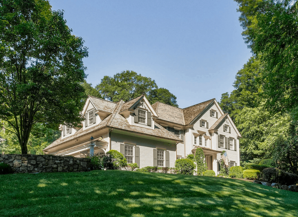 Photo of home that is the location of a Plum Cottage CT Estate Sale New Canaan, CT